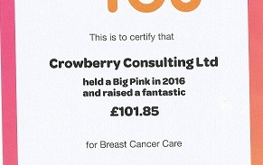 Breast Cancer Care Fundraising 2016