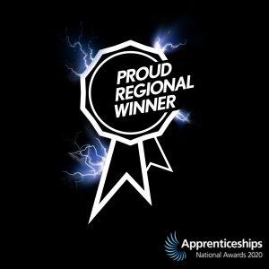 Regional Winner National Apprenticeship Awards 2020
